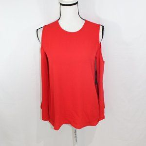 Vince Camuto Red Cold Shoulder Blouse NWT